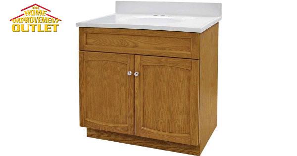 Bathroom Vanity, 30-inch x 18-inch, 34-inch High, 2-Door ...