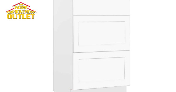 Luxor Base Cabinet, Drawer Bank, White, 21-inch Wide ...