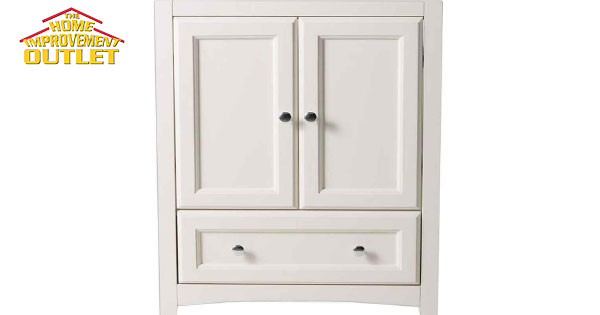 Vanguard, Bottom-Drawer Vanity, White, 30-inch Wide x 21 ...